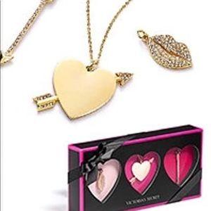 Victoria's Secret Necklace Charm Set Gift Box